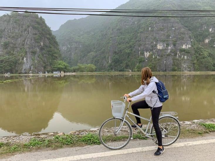 Moi sur mon vélo