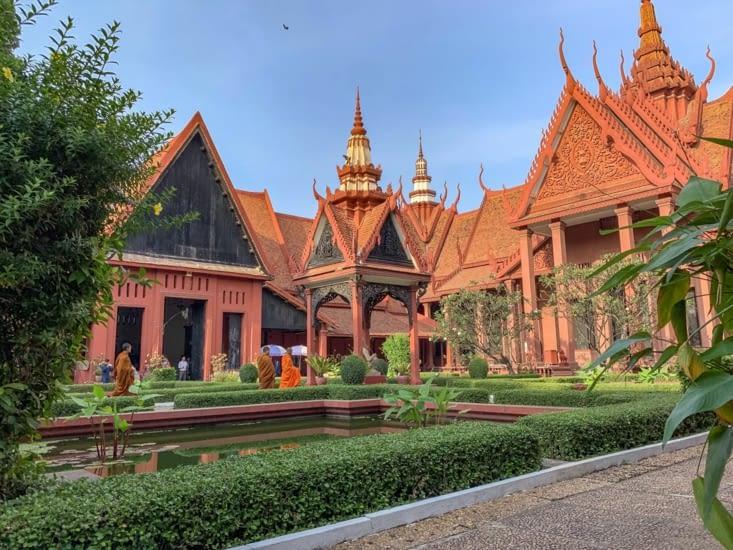 Les jardins et des moines