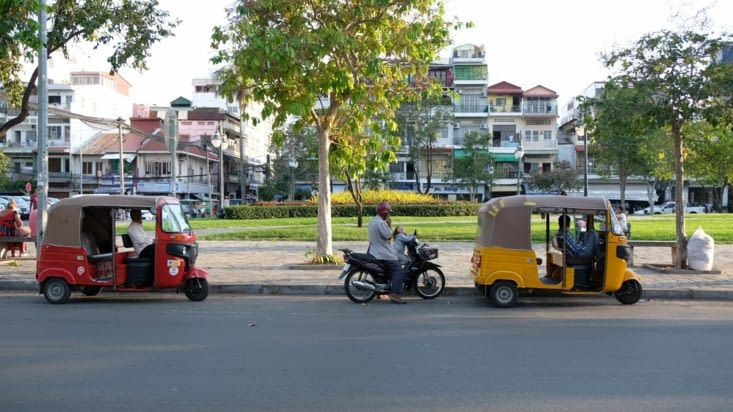 Les tuktuks : moyen de transport de prédilection au Cambodge
