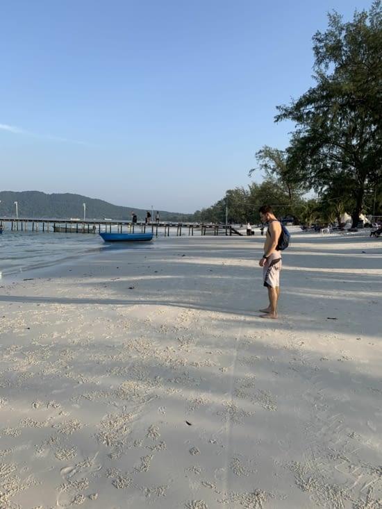 Jordan sur la plage