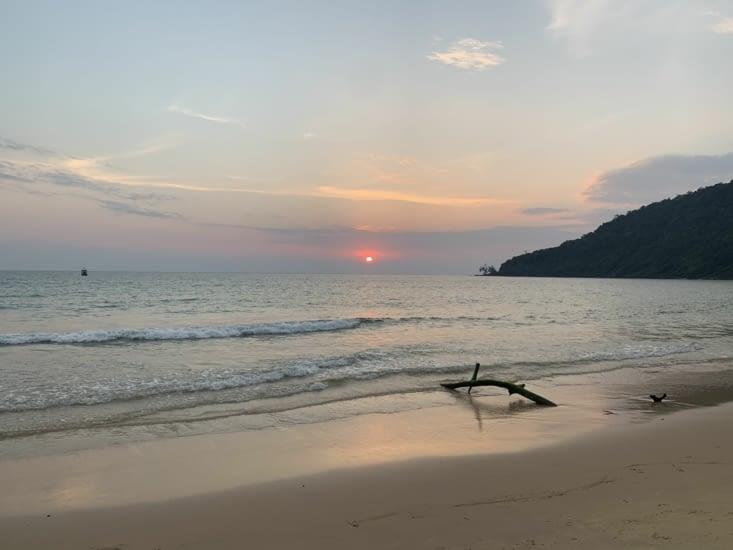 Le début du coucher du soleil