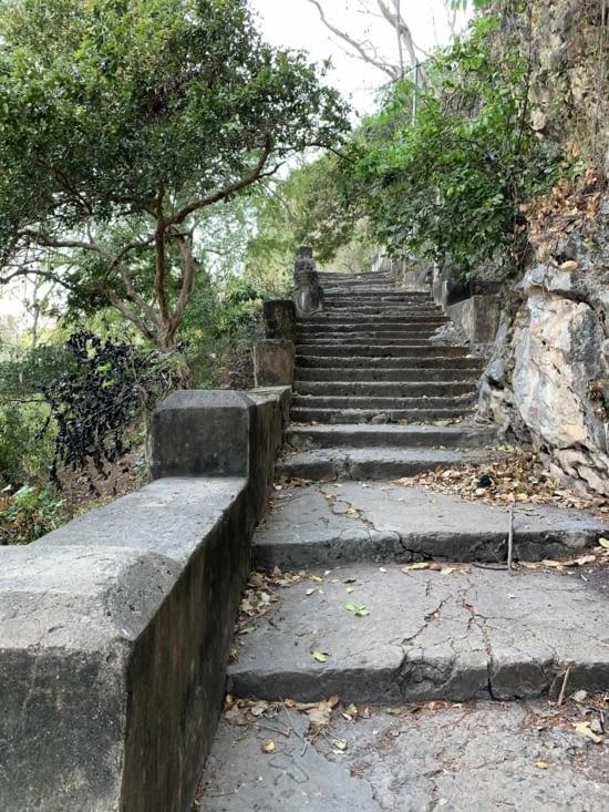 Les escaliers pour monter, c'était sport !