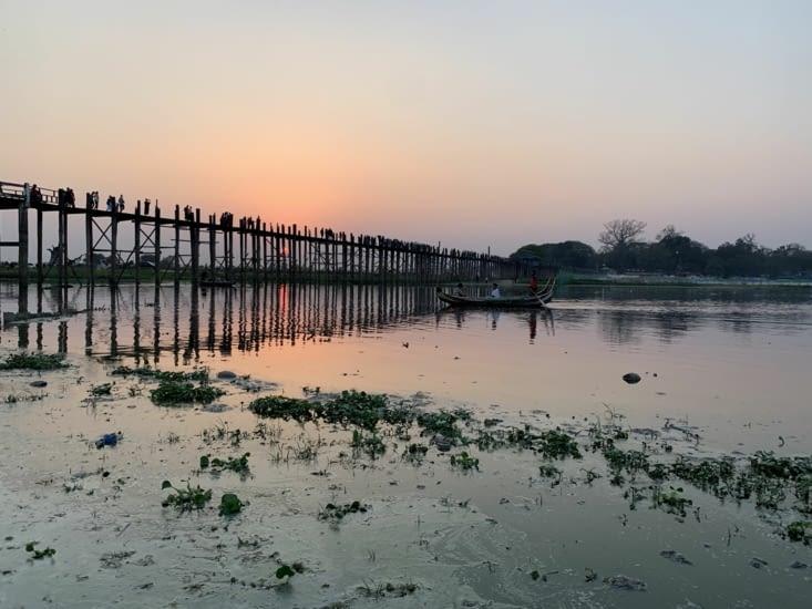 Le debut du coucher de soleil