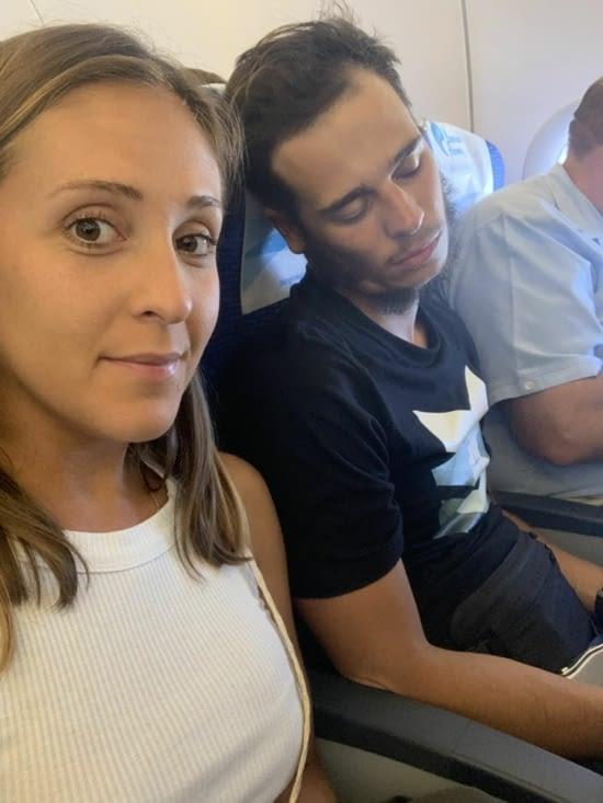 Dans l'avion vers Bangkok 😅