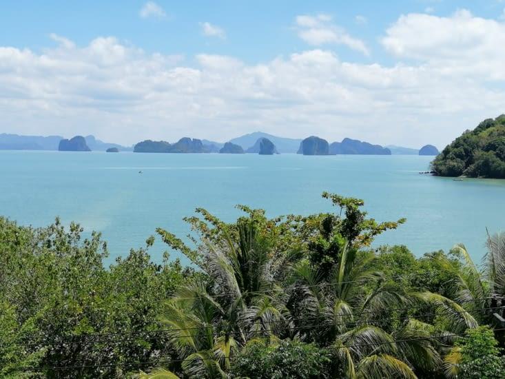 Vue depuis notre cabane de Tha Kao Bay View
