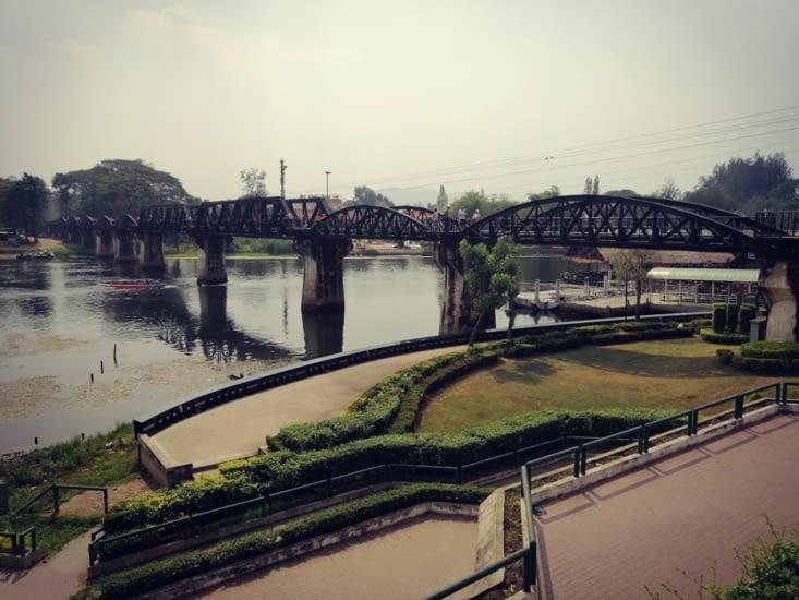 Le fameux pont de la rivière Kwaï.
