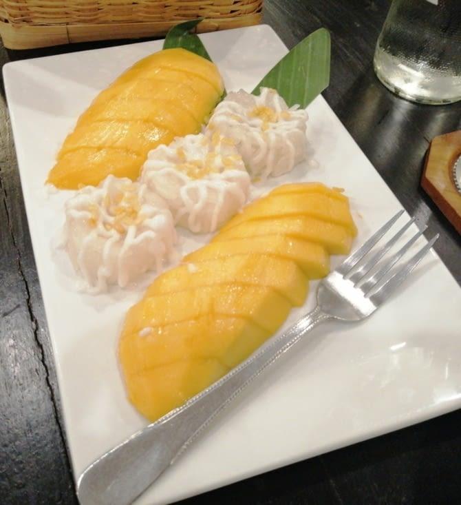 Et pour finir, le mango sticky rice.