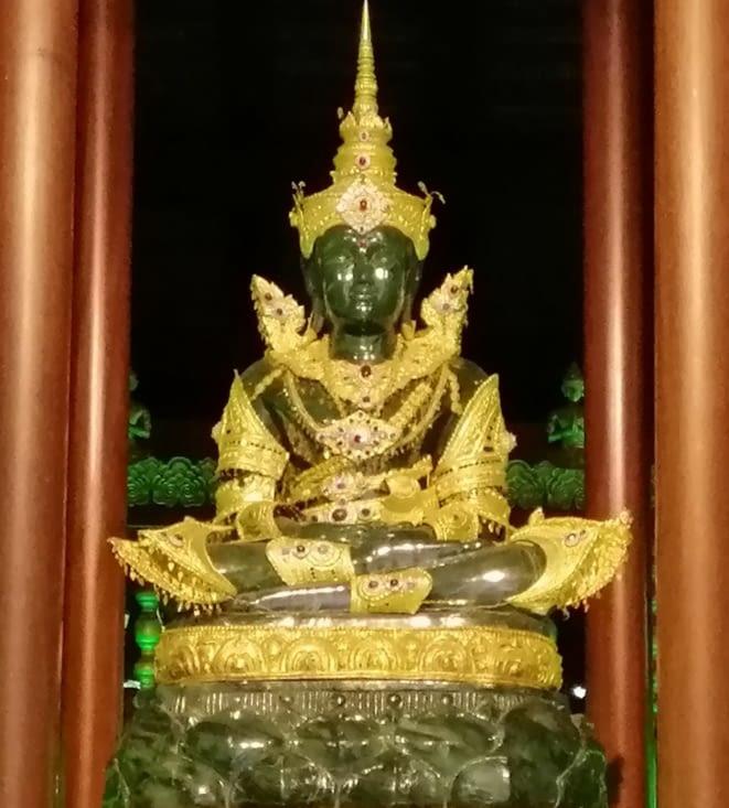 On a retrouvé le Bouddha d'émeraude.