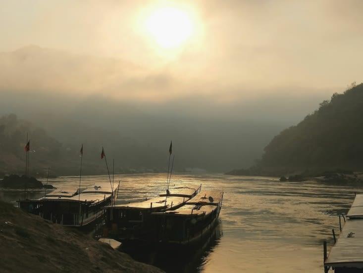 Lever de soleil sur le Mekong