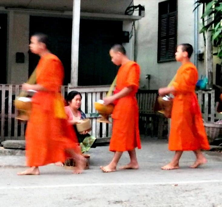 La procession des bonzes.