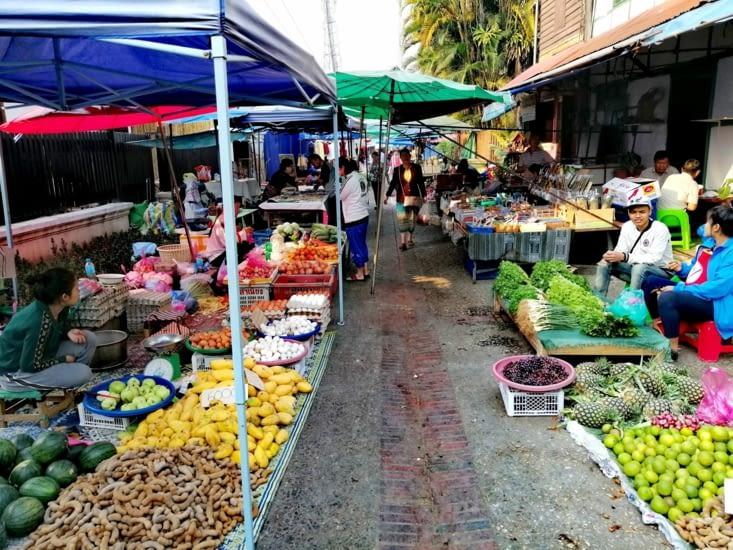 Le marché du matin.