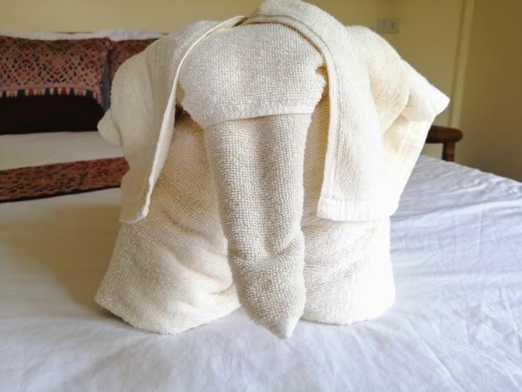 Des serviettes joliment pliées !