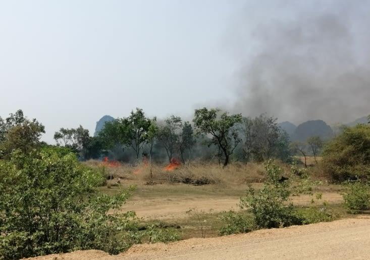 Brûlis. Cause importante de pollution dans le sud-est asiatique.
