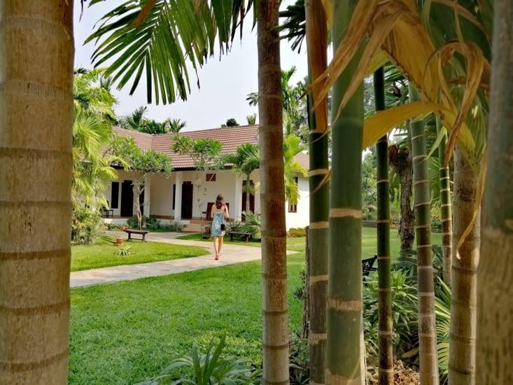 Notre hôtel, la villa Thakhek.