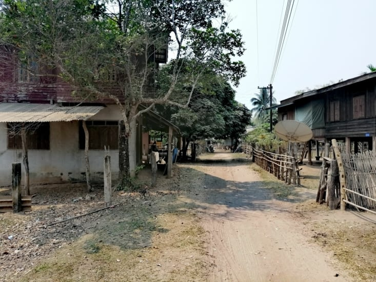 La piste du village.