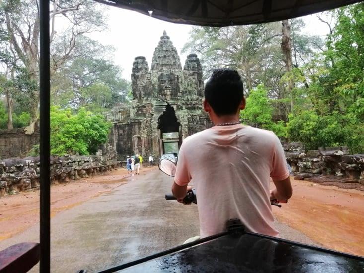 La porte d'Angkor Thom.