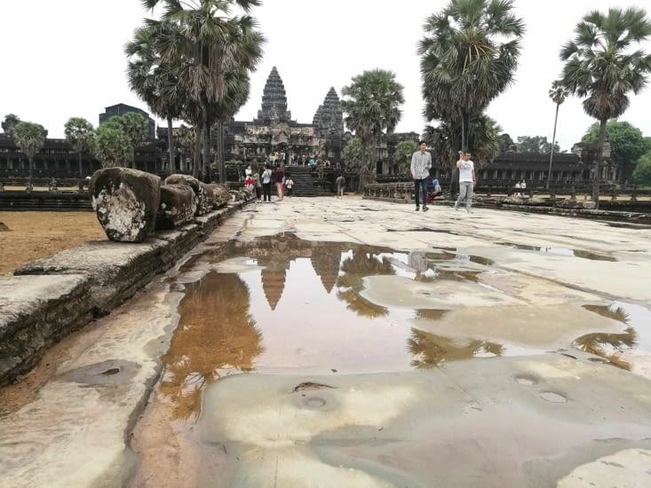 Les hautes tours d'Angkor Vat.