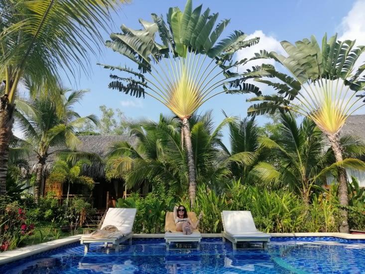 La belle piscine de notre hôtel 😍