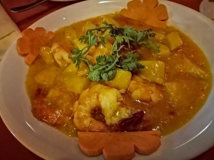 Recette originale: crevettes sauce mangue.