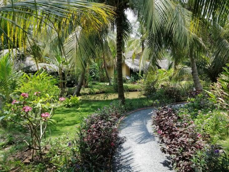 Le jardin du Mekong Home.