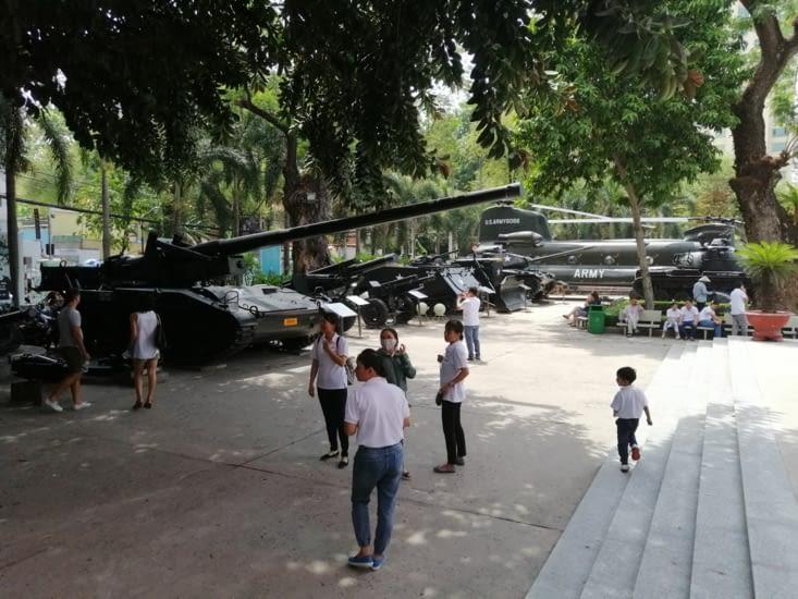 Le musée des vestiges de la guerre.