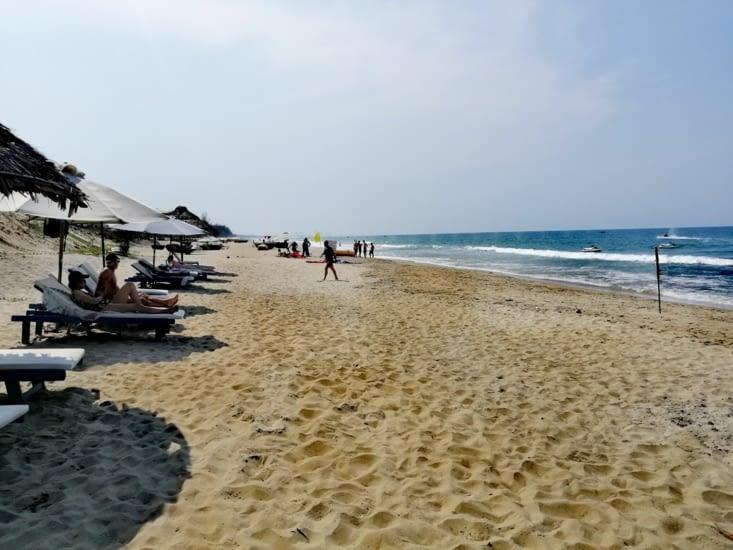 De retour à la plage.