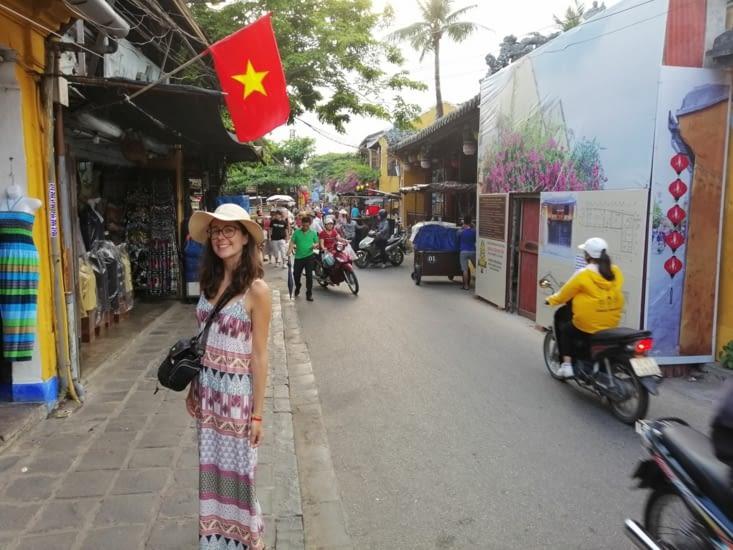 L'entrée dans Hoi An, classée au Patrimoine mondial de L'UNESCO.