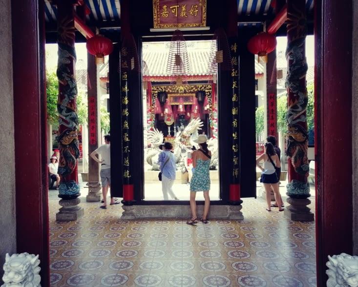 Les colonnes de l'atrium.