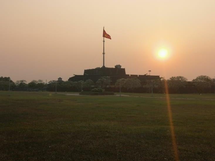 Coucher de soleil sur la citadelle