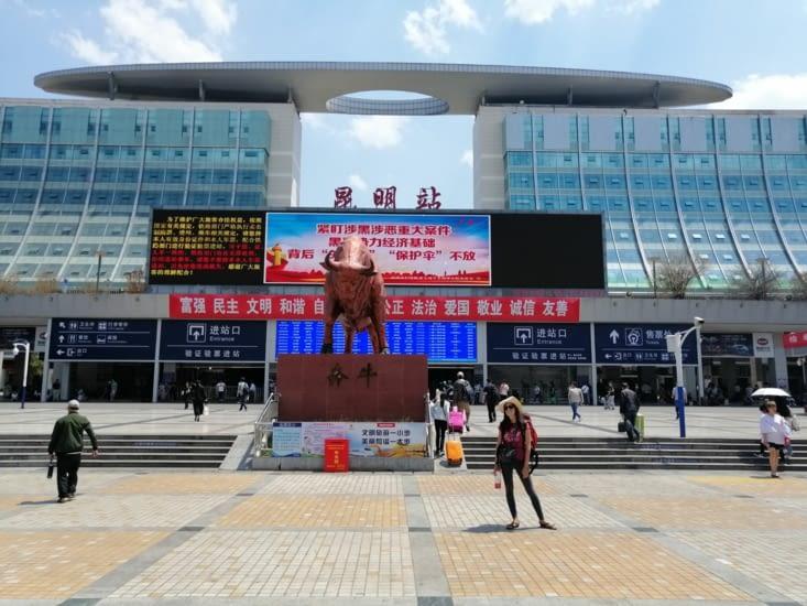 La gare TGV de Kunming.
