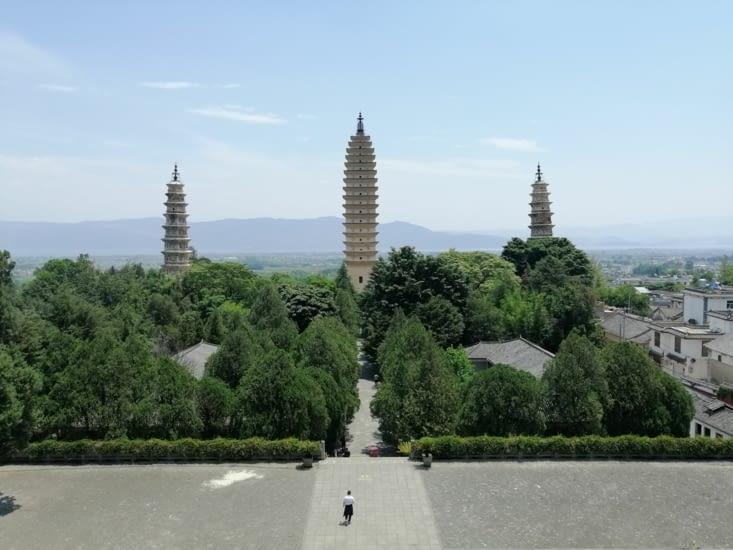 Vue sur les trois pagodes.