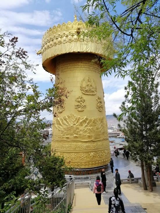Le plus grand moulin à prières du monde.