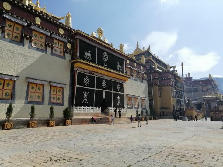 Les trois temples principaux.