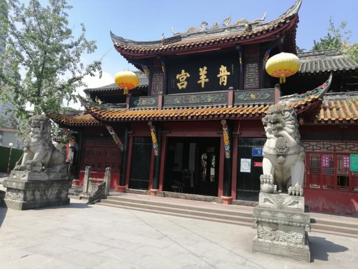 Le temple des chèvres de bronze.