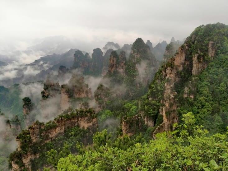 Le point de vue de Tianbo Mansion.