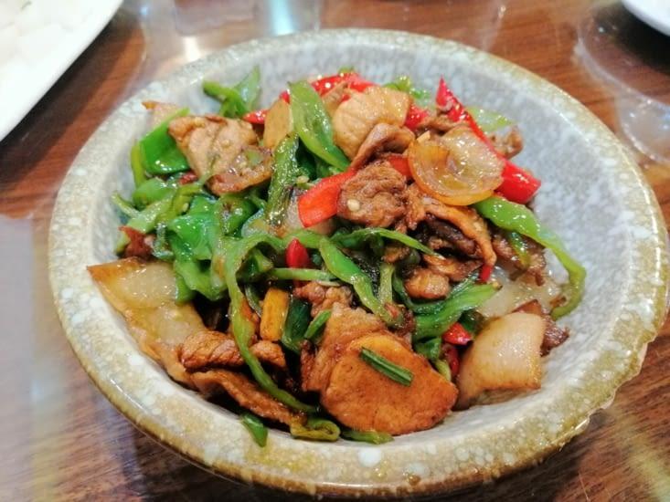 Porc au poivron au He Tian Yuan.