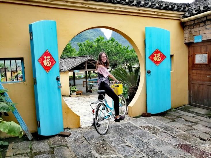 Début d'une nouvelle balade à vélo.