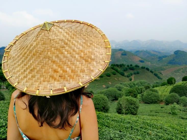 Incontournable de l'été: le chapeau conique aplani.