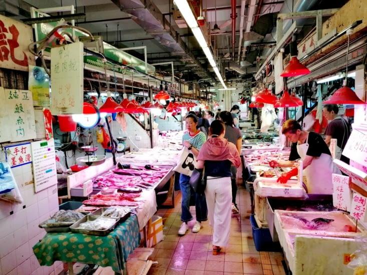 Le marché de Mongkok.