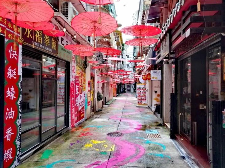 La rue des ombrelles.
