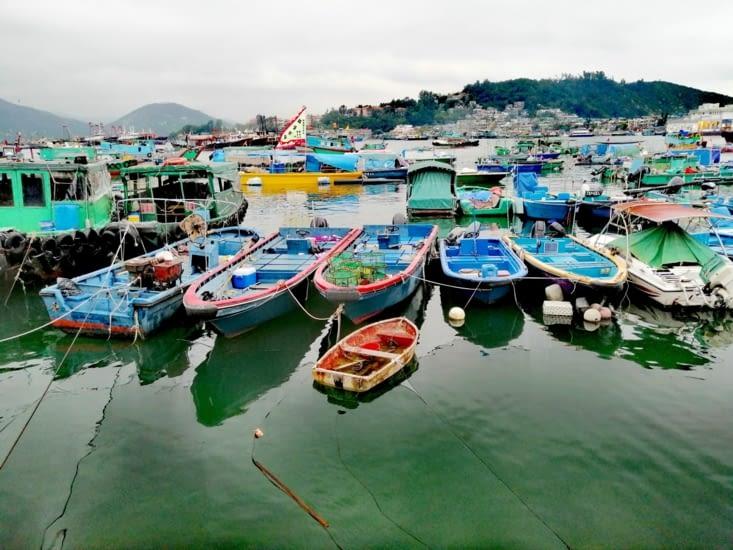 Un port de pêche coloré.