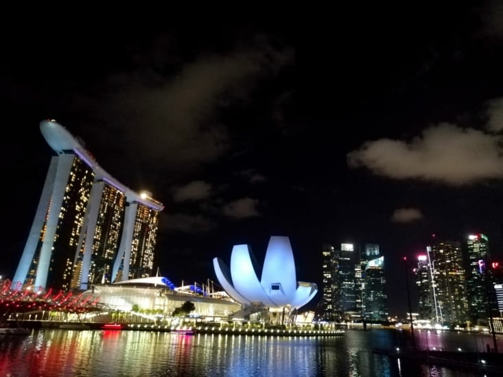 Les reflets du Marina Bay Sands.