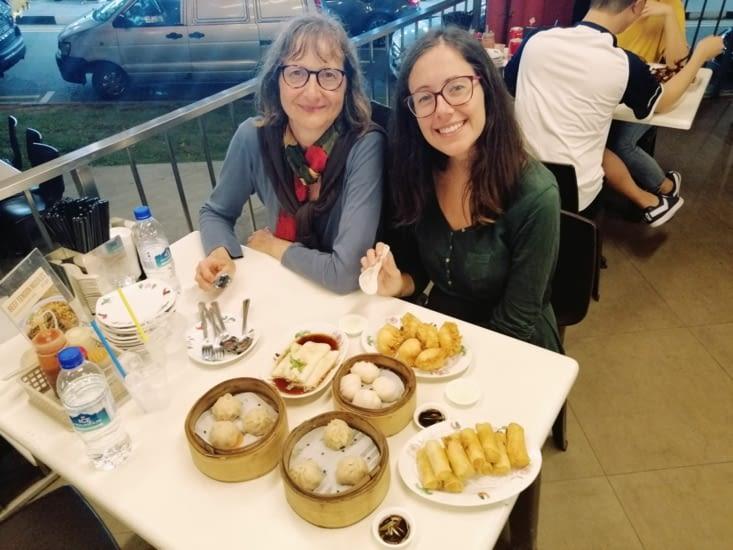Repas copieux au Mongkok Dim Sum.