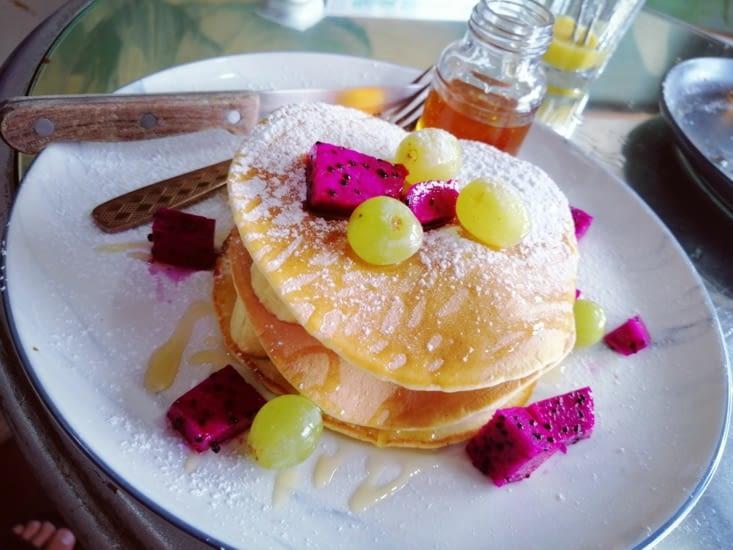 Petit déjeuner pancakes !