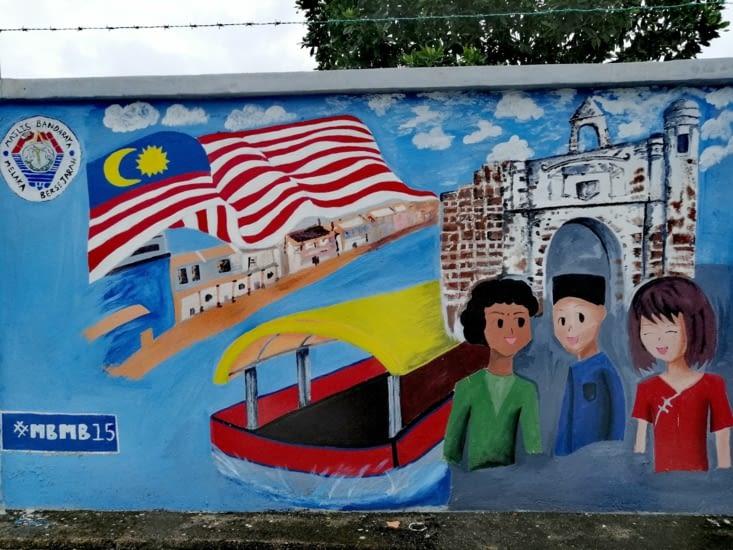 Street art au drapeau.