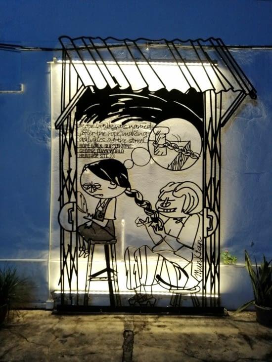 Street art métallique.