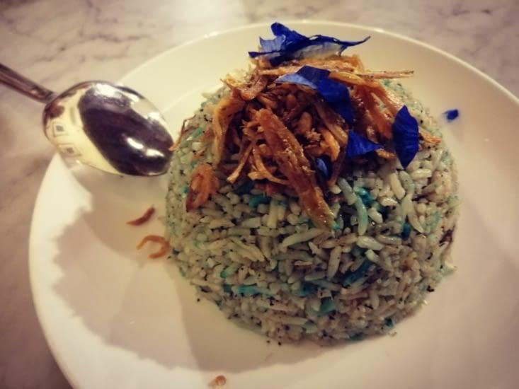 Un riz schtroumpfement bon !