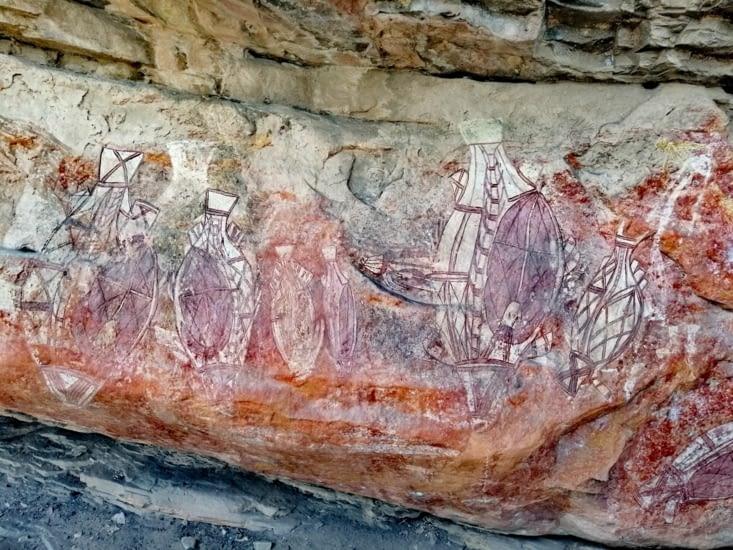 Les peintures rupestres de Nawulungur.