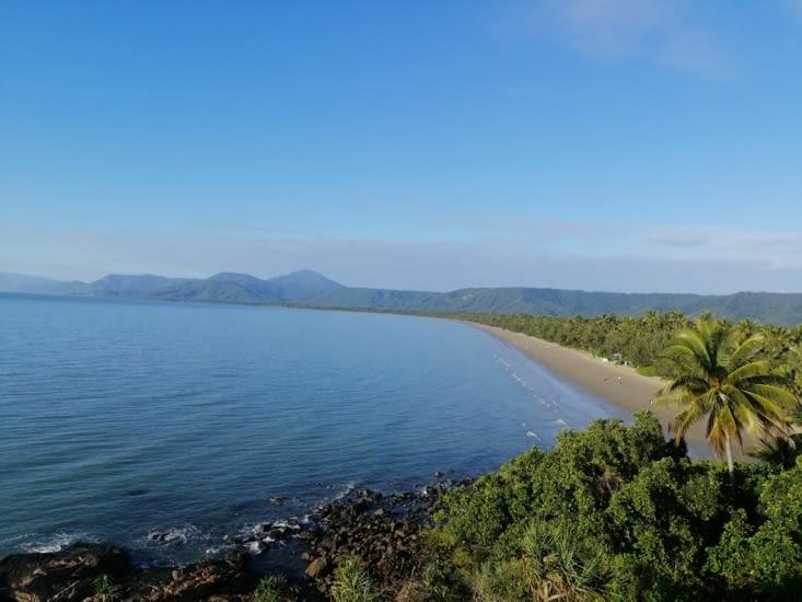 Four Miles Beach au matin.