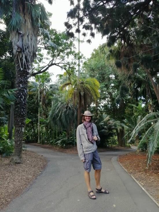 Exploration du jardin botanique.